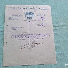 Cartas comerciales: RAMON PIÑERA..ALMACEN VIDRIOS..LEON..30 JUNIO 1937..¡ VIVA ESPAÑA ¡. Lote 205693747