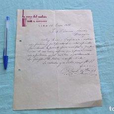 Cartas comerciales: LA CASA DEL MAHON CONFECCIONES..LEON..14 ENERO 1938. Lote 205695182