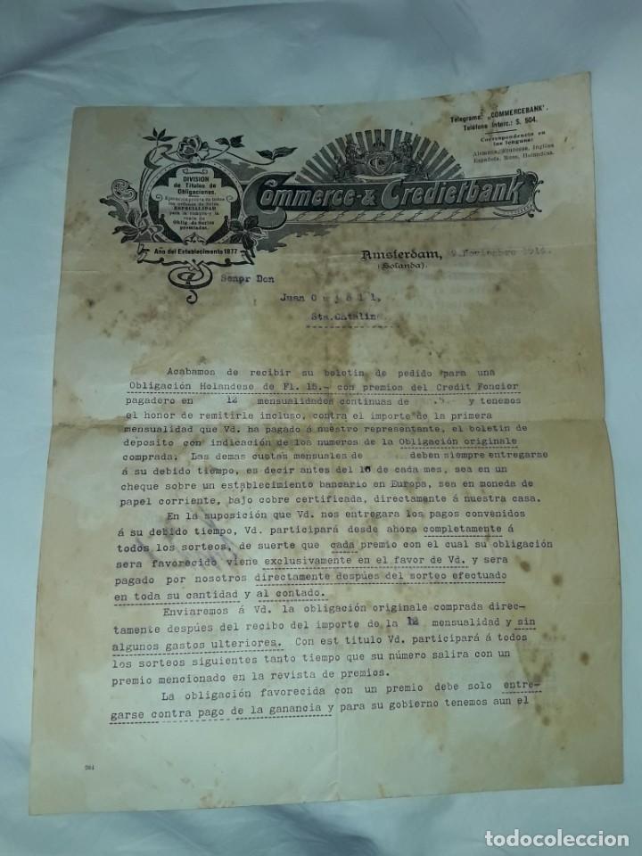 ANTIGUO CERTIFICADO DE COMPRA DE OBLIGACIÓN AÑO 1914 (Coleccionismo - Documentos - Cartas Comerciales)
