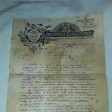 Cartas comerciales: ANTIGUO CERTIFICADO DE COMPRA DE OBLIGACIÓN AÑO 1914. Lote 206261431