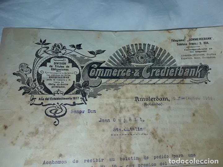 Cartas comerciales: Antiguo Certificado de compra de Obligación año 1914 - Foto 2 - 206261431