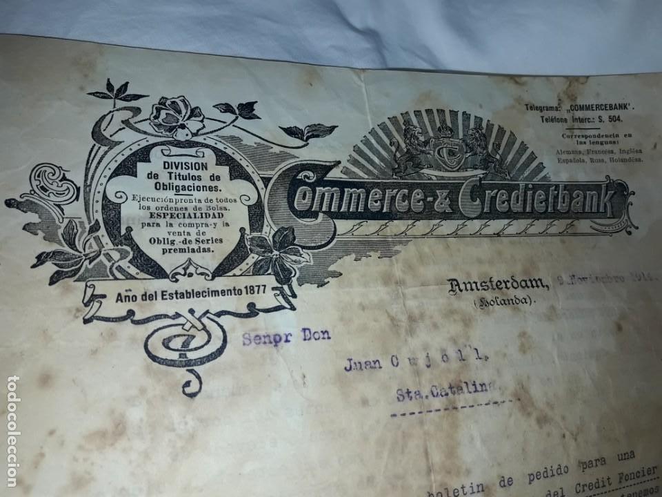 Cartas comerciales: Antiguo Certificado de compra de Obligación año 1914 - Foto 6 - 206261431