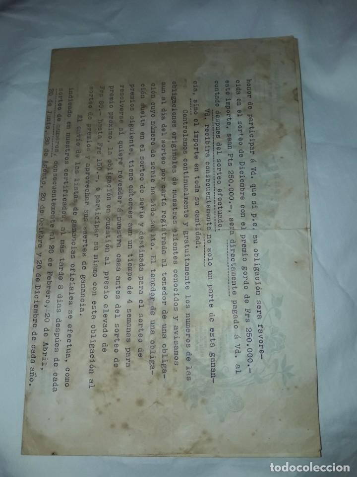 Cartas comerciales: Antiguo Certificado de compra de Obligación año 1914 - Foto 7 - 206261431