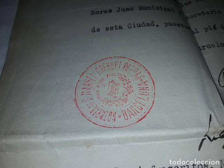 Cartas comerciales: Antiguo Certificado de Nacimiento año 1935 - Foto 9 - 206262641