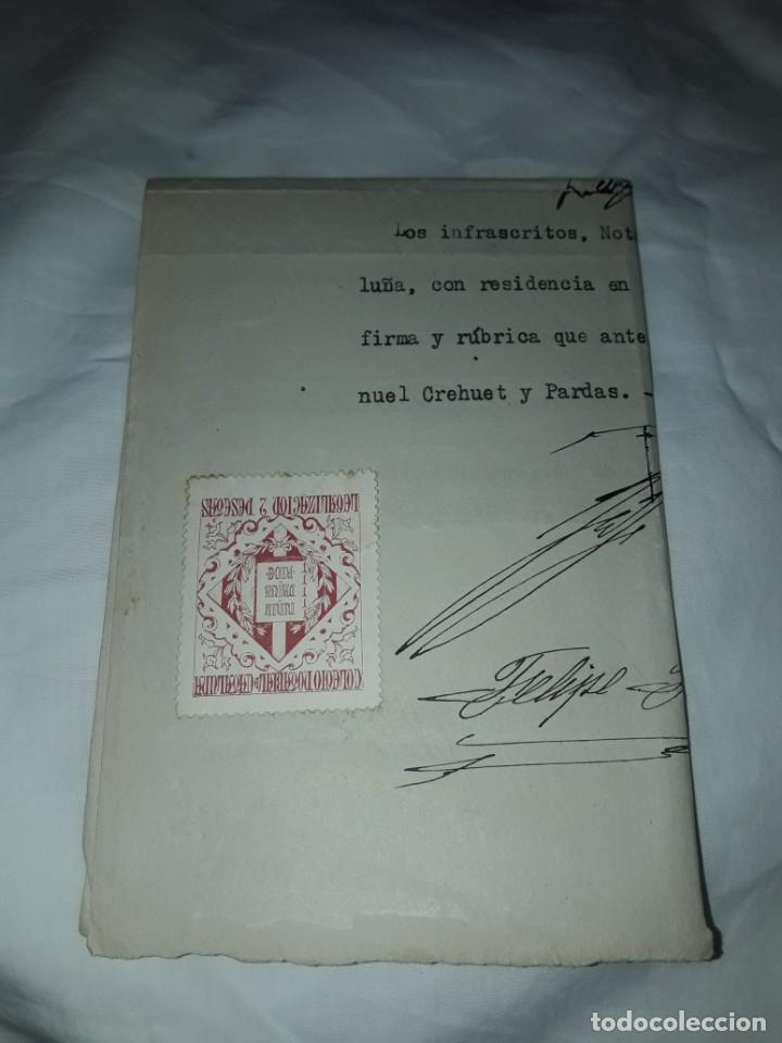 Cartas comerciales: Antiguo Certificado de Nacimiento año 1935 - Foto 13 - 206262641