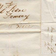 Cartas comerciales: CARTA COMERCIAL AÑO 1823 SANLUCAR DE BARRAMEDA A JEREZ DE LA FRONTERA - SIN MARCA POSTAL - FOTO AD.. Lote 206267375
