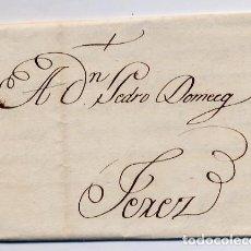 Cartas comerciales: CARTA COMERCIAL AÑO 1824 SANLUCAR DE BARRAMEDA A JEREZ DE LA FRONTERA - SIN MARCA POSTAL - FOTO AD.. Lote 206267763