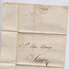 Cartas comerciales: CARTA COMERCIAL AÑO 1824 SANLUCAR DE BARRAMEDA A JEREZ DE LA FRONTERA - SIN MARCA POSTAL. Lote 206268951
