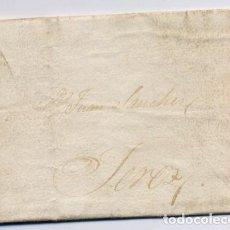 Cartas comerciales: CARTA COMERCIAL AÑO 1823 SANLUCAR DE BARRAMEDA A JEREZ DE LA FRONTERA - SIN MARCA POSTAL. Lote 206269145