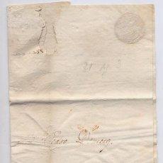 Cartas comerciales: CARTA COMERCIAL AÑO 1823 SANLUCAR DE BARRAMEDA A JEREZ DE LA FRONTERA - SIN MARCA POSTAL. Lote 206269413