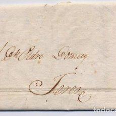Cartas comerciales: CARTA COMERCIAL AÑO 1823 SANLUCAR DE BARRAMEDA A JEREZ DE LA FRONTERA - SIN MARCA POSTAL. Lote 206269611