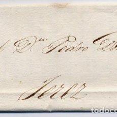 Cartas comerciales: CARTA COMERCIAL AÑO 1823 SANLUCAR DE BARRAMEDA A JEREZ DE LA FRONTERA - SIN MARCA POSTAL. Lote 206270242