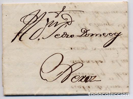 CARTA COMERCIAL AÑO 1824 SANLUCAR DE BARRAMEDA A JEREZ DE LA FRONTERA - SIN MARCA POSTAL (Coleccionismo - Documentos - Cartas Comerciales)