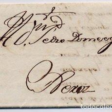 Cartas comerciales: CARTA COMERCIAL AÑO 1824 SANLUCAR DE BARRAMEDA A JEREZ DE LA FRONTERA - SIN MARCA POSTAL. Lote 206270607