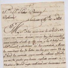 Cartas comerciales: CARTA COMERCIAL AÑO 1824 SANLUCAR DE BARRAMEDA - SIN SOBRE - LLEVADA POR JUAN DE DIOS, VER FOTO ADIC. Lote 206273493