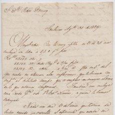 Cartas comerciales: CARTA COMERCIAL AÑO 1824 SANLUCAR DE BARRAMEDA - SIN SOBRE. Lote 206273830
