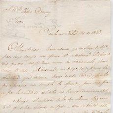 Cartas comerciales: CARTA COMERCIAL AÑO 1823 SANLUCAR DE BARRAMEDA - SIN SOBRE. Lote 206273990