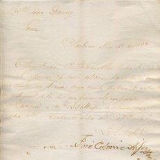 Cartas comerciales: CARTA COMERCIAL AÑO 1823 SANLUCAR DE BARRAMEDA - SIN SOBRE. Lote 206274131