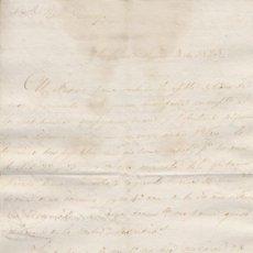 Cartas comerciales: CARTA COMERCIAL AÑO 1823 SANLUCAR DE BARRAMEDA A JEREZ - SIN SOBRE. Lote 206274572