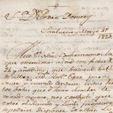 Cartas comerciales: CARTA COMERCIAL AÑO 1823 SANLUCAR DE BARRAMEDA - SIN SOBRE. Lote 206274772