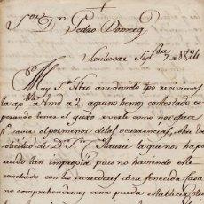 Cartas comerciales: CARTA COMERCIAL AÑO 1824 SANLUCAR DE BARRAMEDA - SIN SOBRE. Lote 206278370
