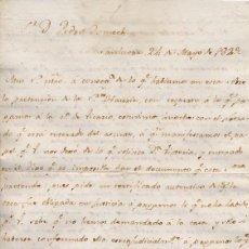 Cartas comerciales: CARTA COMERCIAL AÑO 1823 SANLUCAR DE BARRAMEDA - SIN SOBRE. Lote 206278447