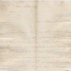 Cartas comerciales: CARTA COMERCIAL AÑO 1823 SANLUCAR DE BARRAMEDA - SIN SOBRE. Lote 206278576