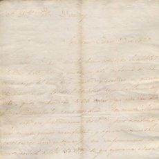 Cartas comerciales: CARTA COMERCIAL AÑO 1823 SANLUCAR DE BARRAMEDA - SIN SOBRE. Lote 206278638