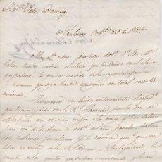 Cartas comerciales: CARTA COMERCIAL AÑO 1824 SANLUCAR DE BARRAMEDA - SIN SOBRE. Lote 206278896