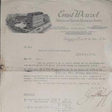 Cartas comerciales: CARTA COMERCIAL. ERNST MENZEL. FABRIKATION UND EXPORT VON BIJOUTERIE UND GLASMAREN. BÖHMEN 1933. Lote 206290573