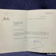 Cartas comerciales: CARTA RESTAURANTE JOSE LUIS MAITRE A CLIENTE 1968 MADRID 16,5X22,5CMS. Lote 206588283