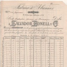 Cartas comerciales: SALVADOR BONELL. FÁBRICA DE ABANICOS. VALENCIA.. Lote 207120493