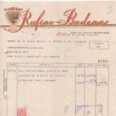 Cartas comerciales: RUFINO BADENAS. FÁBRICA DE HILADOS DE LANA. LIRIA. VALENCIA.. Lote 207120776