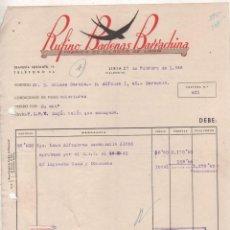 Cartas comerciales: RUFINO BADENAS. FÁBRICA DE HILADOS DE LANA. LIRIA. VALENCIA. 1946. Lote 207120913