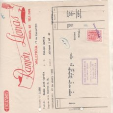 Cartas comerciales: RAMÓN LLANAS. VALENCIA. AGENTE COMERCIAL. ZARAGOZA.. Lote 207121183