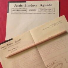 Lettere commerciali: 1930 GRANADA CARTA COMERCIAL VENTA COCHE. Lote 207329478