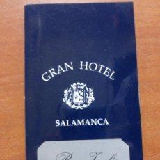 Cartas comerciales: GRAN HOTEL DE SALAMANCA . BAR INGLES. CARTA DE COCTELES.. Lote 207416948
