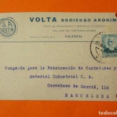 Cartas comerciales: TARGETA POSTAL COMERCIAL - VOLTA, SOCIEDAD ANÓNIMA - VALENCIA - AÑO 1935 ...L1398. Lote 208663776