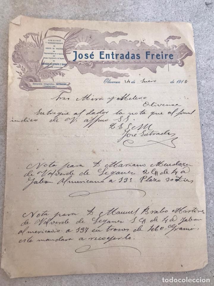CARTA COMERCIAL 1918. EXTREMADURA (Coleccionismo - Documentos - Cartas Comerciales)