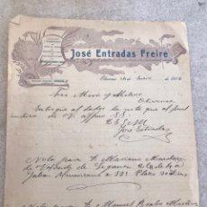 Cartas comerciales: CARTA COMERCIAL 1918. EXTREMADURA. Lote 209019570