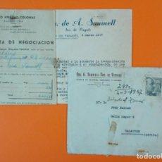 Cartas comerciales: CARTA CON SOBRE - LICORES VDA. DE A. SAUMELL - VILAFRANCA DEL PANADÉS (BARCELONA), AÑO 1947...L1469. Lote 209653328