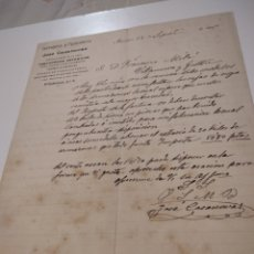 Cartas comerciales: CARTA COMERCIALES CERRAJERÍA Y FUMISTERIA JOSÉ CASANOVAS BARCELONA 1901. Lote 210350941