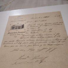Cartas comerciales: CARTA COMERCIAL CONSTRUCCIÓN DE COCINAS ECONÓMICAS FRANCISCO PASCUAL 1902. Lote 210351022
