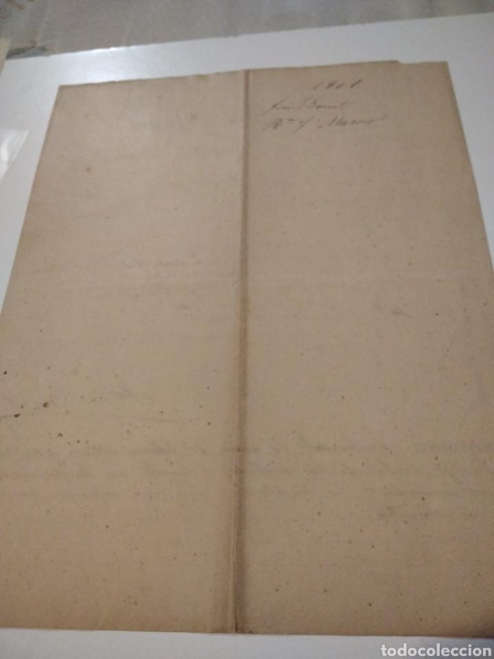 Cartas comerciales: Almacén de hierros Aceros y carbones factura antigua 1901 José Bonet - Foto 4 - 210351148