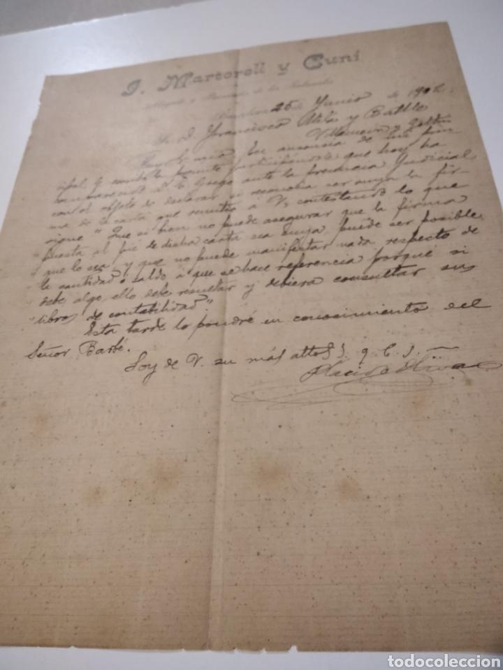 JOSÉ. MARTORELL Y CUNI ABOGADO Y PROCURADOR DE LOS TRIBUNALES BARCELONA 1902 (Coleccionismo - Documentos - Cartas Comerciales)