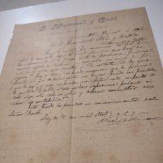 Cartas comerciales: JOSÉ. MARTORELL Y CUNI ABOGADO Y PROCURADOR DE LOS TRIBUNALES BARCELONA 1902. Lote 210351312