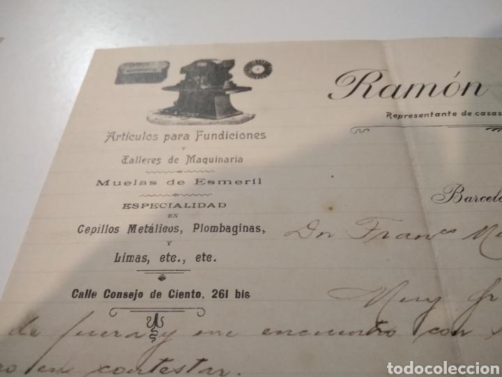 Cartas comerciales: Ramón Feixas representante de casas del país y extranjeras 1902 - Foto 2 - 210351627