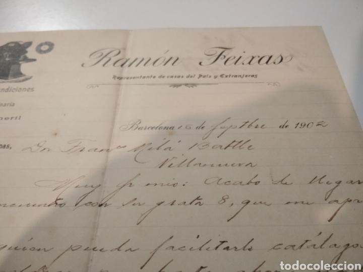 Cartas comerciales: Ramón Feixas representante de casas del país y extranjeras 1902 - Foto 3 - 210351627
