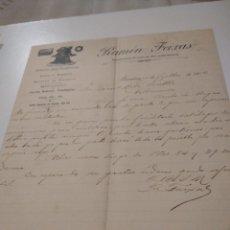 Cartas comerciales: RAMÓN FEIXAS REPRESENTANTE DE CASAS DEL PAÍS Y EXTRANJERAS 1902. Lote 210351627