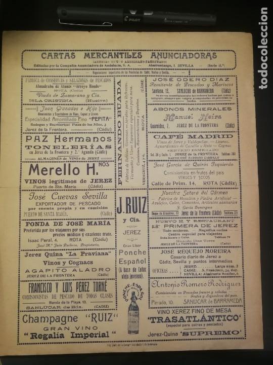CARTA DE FERNANDO BUADA A RAMÓN VARELA (1928) CON REVERSO CARTA MERCANTIL ANUNCIADORA (Coleccionismo - Documentos - Cartas Comerciales)